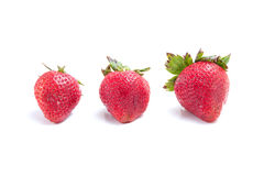 Three Ripe Strawberries Stock Image