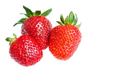 Three ripe strawberry Royalty Free Stock Image