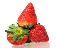 Three ripe  strawberry Royalty Free Stock Photography