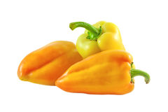 Three ripe sweet peppers Stock Photography