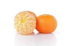 Three ripe tangerines Stock Photo