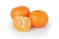 Three ripe tangerines Stock Image