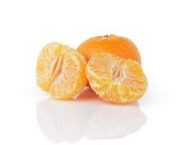 Three ripe tangerines Stock Images