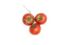 Three ripe tomatoes Stock Images