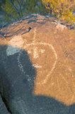 Three Rivers Petroglyph National Site, a (BLM) Bureau of Land Management Site, features more than 21,000 Native American Indian pe Stock Photography