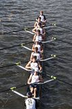 Three Rivers Rowing Association races in the Head. BOSTON - OCTOBER 21: Three Rivers Rowing Association races in the Head of Charles Regatta, Marin Racing won Stock Image