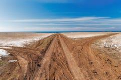 Three roads to the sea Stock Photo