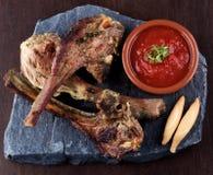 Roasted Lamb Ribs Stock Image