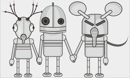 Three robot. Character or avatar robot  simple bacground Stock Photos