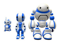 Three Robot Workers Stock Image
