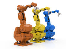 Three robotic arms Royalty Free Stock Images