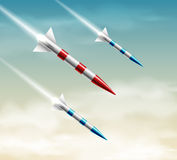 Three rockets Stock Photos