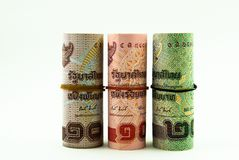 Three roll of money Stock Photography