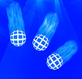 Three Rolling Blue Balls Stock Photos