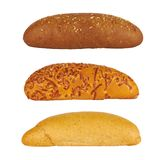 Three rolls of bread Stock Image