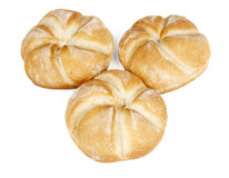 Three rolls bread Royalty Free Stock Photography