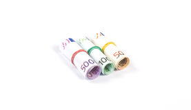 Three rolls of money Stock Photos