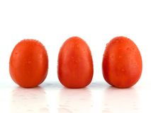Three Roma tomatoes Royalty Free Stock Photos