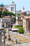 Three roman epochs at once, Italy Stock Photos