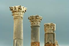 Three roman pillars Stock Photo