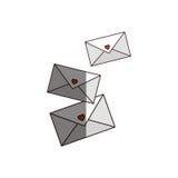 Three romantics letters icon Stock Photo
