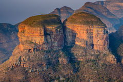 The Three Rondavels, South Africa Stock Photos