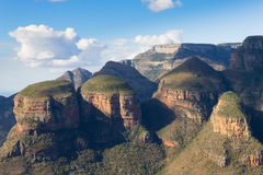 The Three Rondavels view, South Africa. The Three Rondavels view from Blyde River Canyon, South Africa. Famous landmark. African panorama Stock Photography