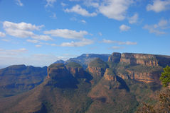 Three rondawels, South Africa stock photography