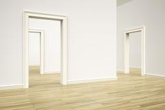 Three rooms Stock Photography