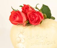Three roses Stock Image