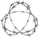 Three rotating circle of barbed wire Royalty Free Stock Photos