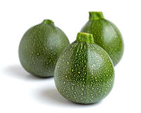 Three courgettes Royalty Free Stock Photo