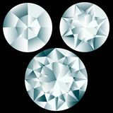 Three round diamonds Stock Photo