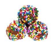 Three Round Donuts Royalty Free Stock Image