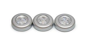 Three round lantern flashlights Stock Photo