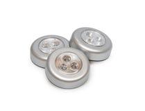 Three round lantern flashlights Stock Photography