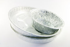 Three Round Mixed Catering Trays Stock Photos