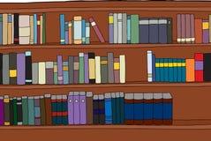 Three Rows of Books on Shelf Royalty Free Stock Photos