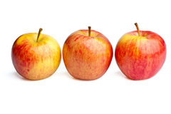 Three Royal Gala apples Stock Photo