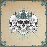 Three royal skulls. Royalty Free Stock Photography