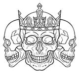 Three royal skulls. Stock Photo