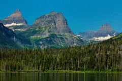 Three Rugged Mountains Stock Photography