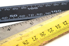 Three rulers Stock Photo