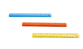 Three rulers in color Stock Photo