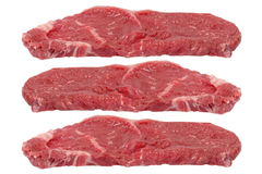 Three rump steaks Stock Images