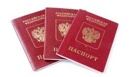 Three Russian international passports Stock Image