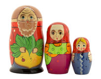 Three Russian nested doll Royalty Free Stock Image