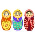 Three Russian nesting dolls Royalty Free Stock Image