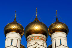 Three Russian orthodox domes Royalty Free Stock Image