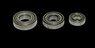 Three rusty bearings Stock Image